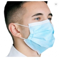 China 3 Layer Ply Nonwoven Dust-proof and Fog-proof Earloop Disposable Face Mouth Masks Fast Shipping wholesale