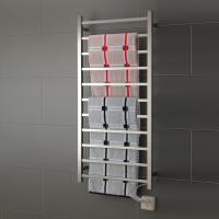 China 11 Bars square stainless steel wall mounted pratical  elegant  safety heated towel rail wholesale