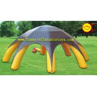 China Yellow 8 Spiders Durable 180OZ PVC Tarpaulin Inflatable Advertising Tent EN14960 wholesale