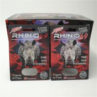 China Custom RHINO 96 Pill Blister Pack Packaging 3D Lenticular Card Eco - Friendly wholesale