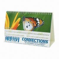 China Promotional Desk Easel Calendar, Customized Trimmed Sizes are Accepted wholesale