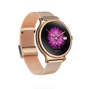 China L10 Ladies Smart Watch Waterproof Health round heart rate fitness tracker metal shell spo2 oxygen watch wholesale