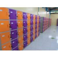 China Waterproof Storage Locker ABS Material Yellow / Orange with keyless lock wholesale