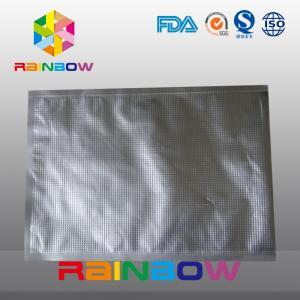 China Aluminum foil embossed bag / foil food vacuum texture packaging bags wholesale