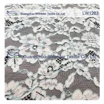 China Cotton Nylon Cord Lace Fabric floral flower pattern for garmen wholesale wholesale