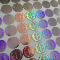China Custom design secure label packaging / shining 3D hologram label / adhesive hologram sticker wholesale