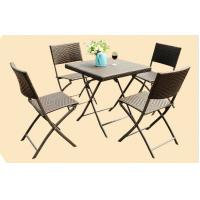 China Leisure Wicker Rattan Chairs with Aluminum Frame , Folding Dining Room Chairs wholesale