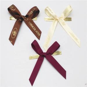 China Colored Small Ribbon Bows 100% Polyester Material Handmade Artworks wholesale