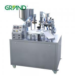 China Hand Cream Semi Automatic Tube Filling And Sealing Machine , Plastic Tube Sealing Machine wholesale
