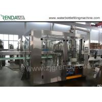 China 330ml Beverage Filling Machine , PET Bottle Washing Filling Capping Machine 3.8KW wholesale