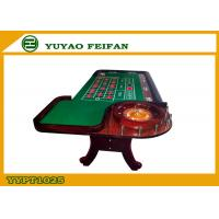 China Green Poker Game Table With Roulette Gambling Casino Roulette Table wholesale