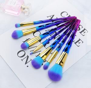 China Facial Professional Makeup Brush Set Spiral Shaped Multicolour wholesale