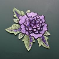 China Polyester Embroidered Floral Appliques For Jackets 11 CM X 9 CM Multi Color Available wholesale