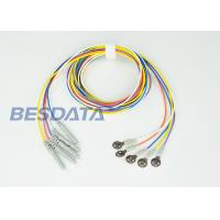 China Disposable EEG Electrodes / EEG Disc Electrodes With 150cm Non Tangle Silicone Rubber Leads wholesale