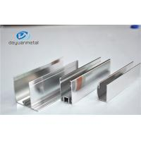 China Shower Enclosures Mirror Surface Extruded Aluminium Profiles With Color Silver wholesale