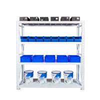 China Hot sale 4 layer stainless steel storage rack, light duty metal shelf , adjustable warehouse racking system wholesale