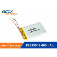 China 053048pl 503048 3.7v lithium polymer battery with 600mAh rechargeable li-ion battery for GPS, bluetooth speaker wholesale