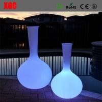 China High Power Beautiful Led Lighted Planter Pots Environmental Material Vase wholesale