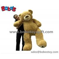 China Big Plush Giant Teddy Bear 5 Foot Tall Tan Color Soft New Year Gift Bear Toys wholesale