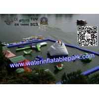 Quality Cool Inflatable Floating Water Park for Lake , Promotion Family Resort With Waterpark for sale