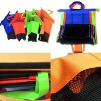 China 4pcs/Set Cart Trolley Supermarket Shopping Eco Bags Foldable Reusable rolley Shopping Cart shopping colors  Bag on sale