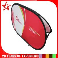 China Oval Popup A Frame Banners Dye Sublimation Different Graphic Printing On Double Sides wholesale
