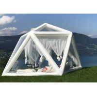 China Portable Large Clear Bubble House Inflatable Triangle Transparent PVC Inflatable Camping Tent wholesale