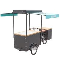 China Europe Style Bicycle Ice Cream Cart High Strength Carbon Steel Frame wholesale