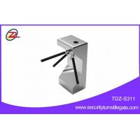 Quality Semi automatic access control verical turnstile with fingerprint scanner for sale