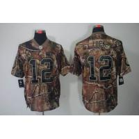 China Nike NFL Indianapolis Colts 12 Luck Camo realtree elite Jersey wholesale