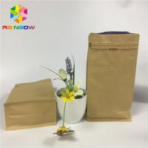 China Flat Bottom Snack Bag Packaging Custom Print Kraft Paper Aluminum Foil Zipper Top wholesale