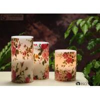 "China Rose Decorative Flickering Flameless Led Candles Dia 3"" x H 4"" wholesale"
