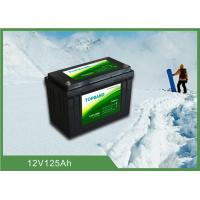 China Durable Lithium Iron Phosphate Battery 12V 125ah with low temperature function wholesale