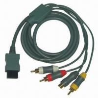 China Wii Component Cable with 1.8m Cable Length, Plug of Cable is Nickel-filled wholesale