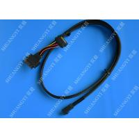 China SFF 8639 To SFF 8643 Serial Attached SCSI Cable , Black SAS 68 Pin SCSI Cable wholesale