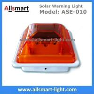 China Amber Orange Flash Solar Pillar Cap Warning Lamp LED Guardrail Lamp Night Safety Luminous Fence Lamp for Traffic Rail wholesale