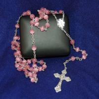China cheap religious or christain jewelry,acessories,products, necklace roasry with cross pendant on sale