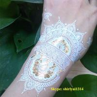 China 2015 newest white henna temporary tattoo sticker wholesale