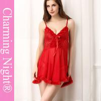 China Lace Transparent  Mature Women Young Girls Sexy Lingerie Babydoll Short Dress wholesale