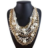 China Factory Wholesale Brand Pearl Necklace Multilayer Alloy Beads Necklace&Pendant for women wholesale