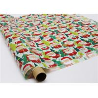 China Gifts Paper Printed Decorative Wax Paper Santa Claus Pattern One Side Coating wholesale
