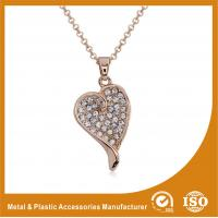 China OEM / ODM Metal Chain Necklace For Women Heart Pendant Necklace wholesale
