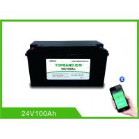 China Bluetooth Rechargeable Lithium Iron Phosphate Battery 24V 100AH Nano LiFePO4 Material wholesale
