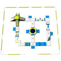 China Adult Inflatable Water Play Equipment For Sea / Inflatable Water Park Design Build on sale