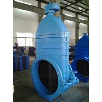 China PN10 Flange Resilient Seated Gate Valve Gearbox For Extension Spindle wholesale
