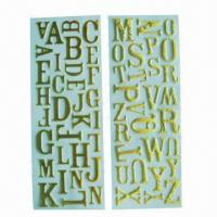 China Glitter alphabet puffy stickers/foam stickers, used for anywhere such as bag, book, gift and card wholesale