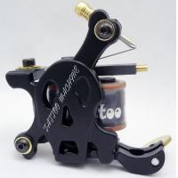 China Electroplate Handmade Tattoo Machine with Low Carbon Steel 10 Coil wholesale