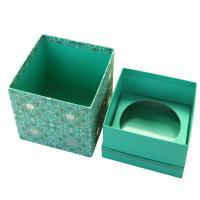 China Luxury Customized Handmade Gift Paper Box Packaging , Blue Foldable Paper Jewel Case ​  ​​ wholesale