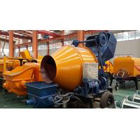 Quality Trailer Mobile Concrete Mixer with Pump with 100m Steel Delivery Pipe Line on Sale for sale