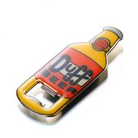 China 3D Surface Bottle Shaped Metal  Bottle Opener With Epoxy Resin Cover Eco Friendly wholesale